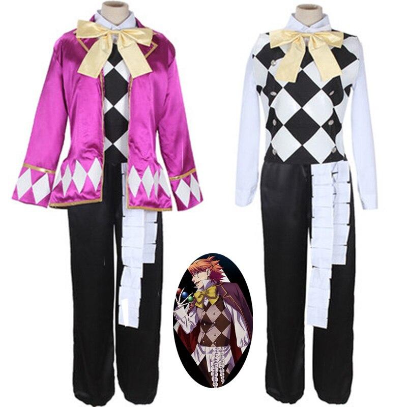 Black Bulter Circus Joker Cosplay Clothing Joker Cos Performance Costumes Men/Women Dinner Suit Anime Cosplay Uniforms Clothes
