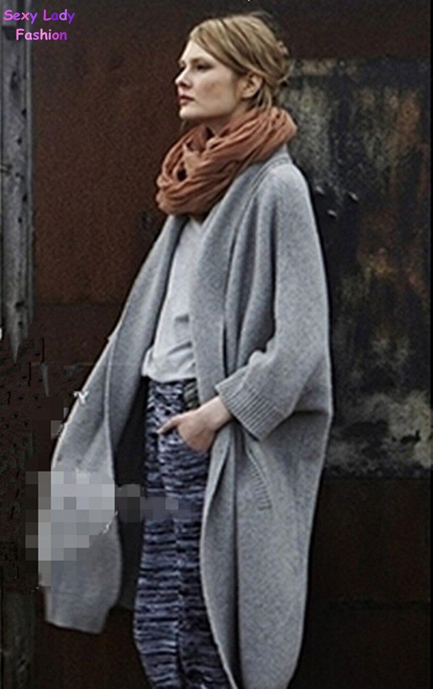 Boyfriend style Solid Color V neck Loose Knit Cardigan Vintage ...
