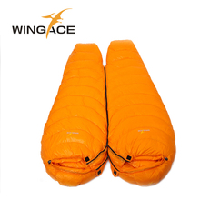 WINGACE Mummy Winter Sleeping Bag Adult Tourist Climbing Camping Outdoor Travel Fill 2500G 95% White Duck Down Sleeping Bags wingace winter sleeping bag adult filling 4000g duck down warm mummy outdoor camping duck down sleeping bags uyku tulumu