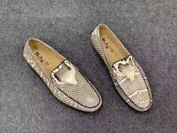 Latest Genuine real genuine python skin men shoe nature beige color Genuine Cobra head & skin men leisure fashion sneaker shoe