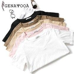 T shirt Women Cotton Basic V Neck Black T Shirt Women Short Sleeve Summer Tshirt Women New Arrivals Women Tops 2019 Harajuku 2