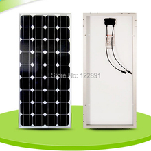 BUHESHUI 100W 18V Monocrystalline silicon Solar Panel Used For 12V photovoltaic Power Home Diy Solar System Factory High Quality