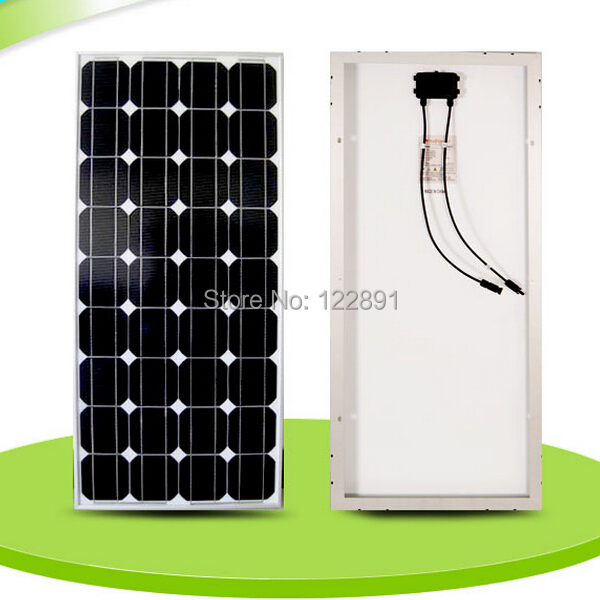 BUHESHUI <font><b>100W</b></font> 18V Monocrystalline silicon <font><b>Solar</b></font> <font><b>Panel</b></font> Used For <font><b>12V</b></font> photovoltaic Power Home Diy <font><b>Solar</b></font> System Factory High Quality image