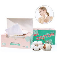 LAMEILA 100PCS Cosmetic Cotton Pads Plus Size Facial Cleaning Pad Makeup Remover Wipes Nail Polish Remover