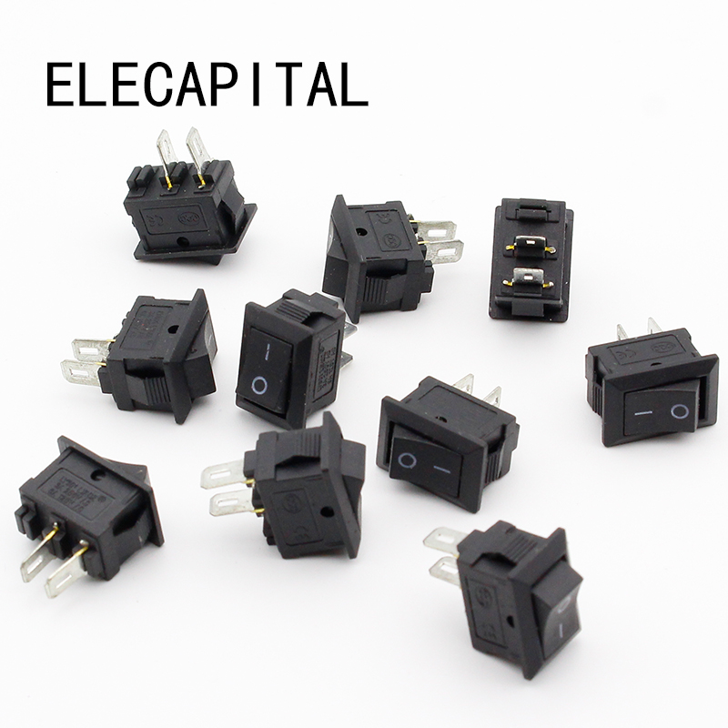 10pcs/lot 10*15mm SPST 2PIN ON/OFF G130 Boat Rocker Switch 3A/250V Car Dash Dashboard Truck RV ATV Home new mini 5pcs lot 2 pin snap in on off position snap boat button switch 12v 110v 250v t1405 p0 5