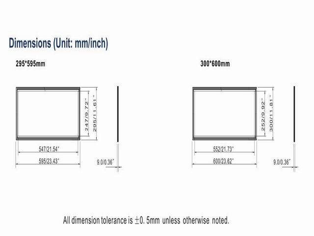 teto 300*600mm embeded cor branca 0 -- 2400lm 3 pçs lote