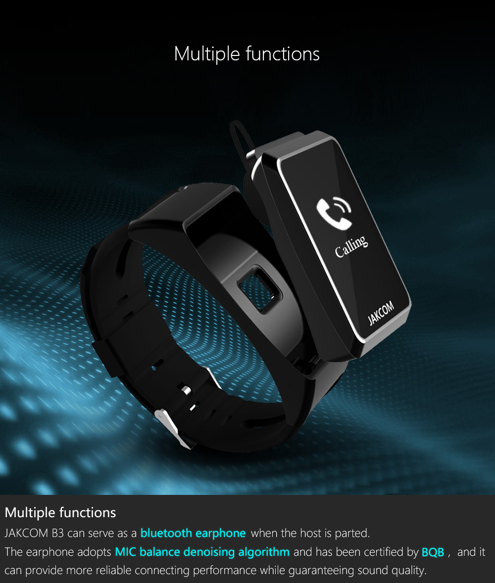 Jakcom B3 Smart Band New Product Of Wristba As Heart Rate Monitor Watch For Xiaomi Mi Band 2 Bracelet Talkband 5