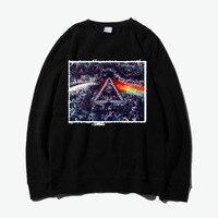 Pink Floyd Tie Dye Painting Patchwork Thick Hoodies Sweatshirts