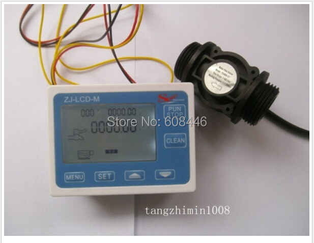 NEW G1 Flow Water Sensor Meter+Digital LCD Display control