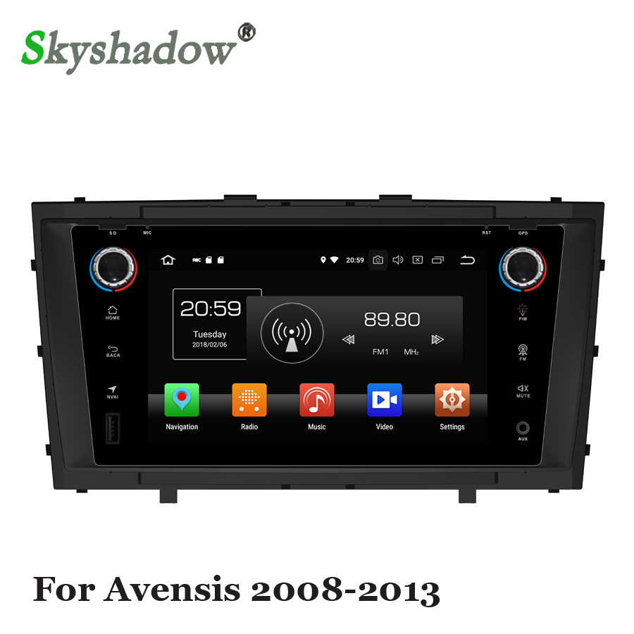 RADIO GPS Dvd-Player Dsp Android Bluetooth Wifi Avensis 8core Toyota 64GB RDS 2 for Glonass-Map