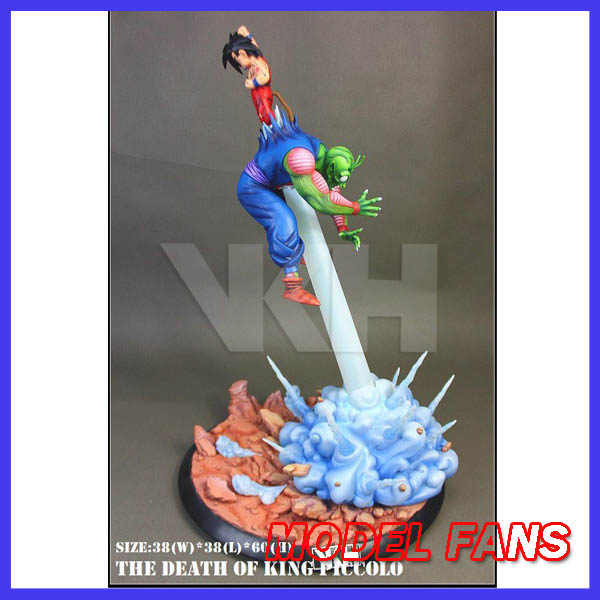 MODEL FANS Dragon Ball Z VKH 60cm Goku vs Piccolo GK resin statue contain led light  figure toy for Collection