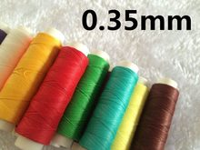 Jh003 0.35mm 50m longo encerado linha encerado corda para costura de couro couro encerado corda