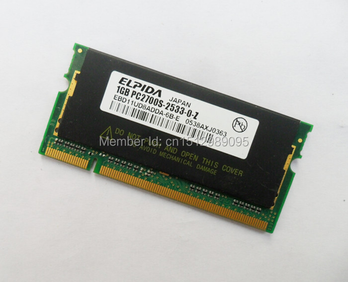 EBD11UD8ADDA-6B 1GB DDR PC2700 333MHz 200Pin SO-DIMM LAPTOP RAM ELPIDA