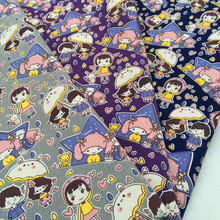 90 x 140 cm cut kids in umbrella canvas fabric pillows cushions fabric table cloth cutains sewing material