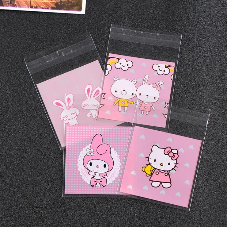 Милые мини-пакеты для печенья 7*7 см, 100 шт., свадебные пакеты для конфет, Детские праздвечерние чные принадлежности, декоративные мини-пакеты ...