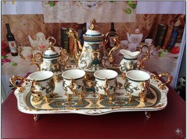 2018 tasse à café en céramique de style européen ensemble tasse à thé de haute qualité avec plateau livraison gratuite