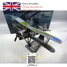 AMER 1/72 Scale Military Model Toys Britain Swordfish Torpedo Bomber Fighter Diecast Metal Plane Model Toy For Collection,Gift corgi 1 72 world war ii german dornier do 17 bomber model aa38806 favorite model