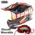 Шлем для мотокросса SM633  с очками для мотокросса