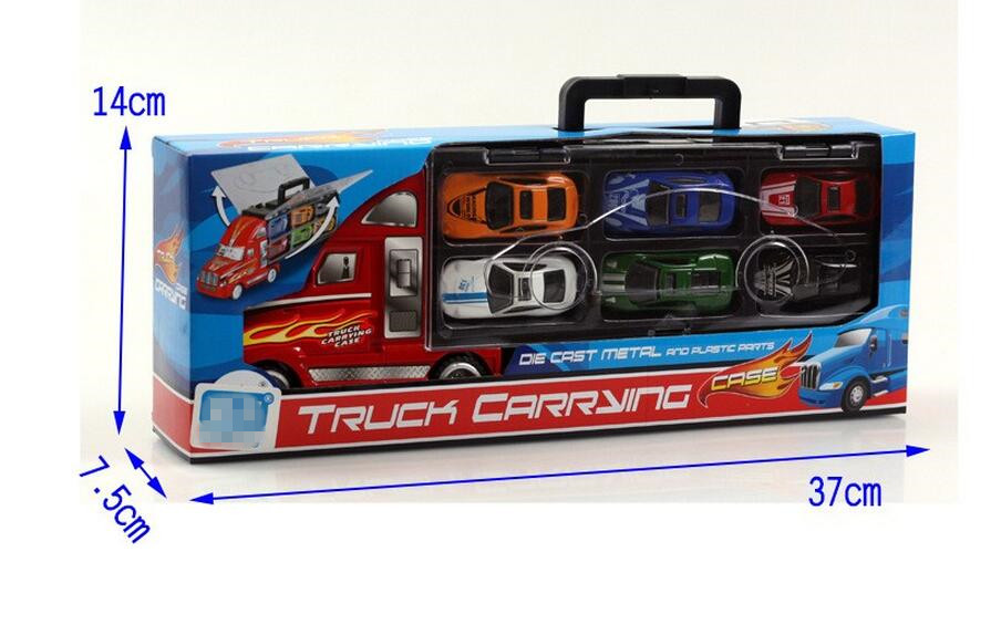 Transport Car Carrier Truck Boys Toy (includes Alloy Metal 12 cars) For Kids Children  (7)