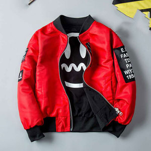 Image 5 - Two Colors Childrens Warm Jacket Spring&Autumn Boy Kids Baby Outwear Coat Cute Cartoon Pattern 3T 4 6 8 10 12 Children Clothes