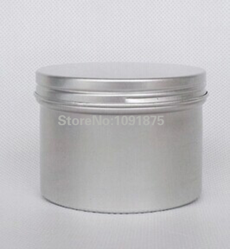 Free shipping 120ml cosmetic container 120g cosmetic aluminum jar cosmetic packaging 120ml cream jar aromatic candle