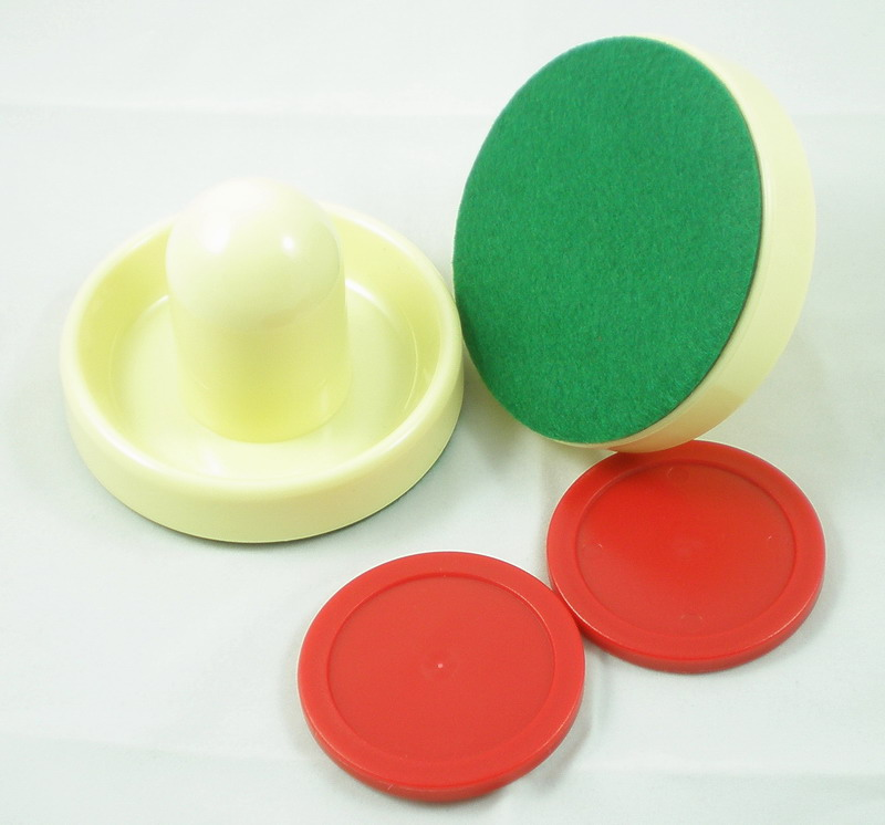 FREE SHIPPING Air hockey table IVORY 2PCS 96mm Goalies Mallets Felt Pusher 2PCS 63mm red PuckFREE SHIPPING Air hockey table IVORY 2PCS 96mm Goalies Mallets Felt Pusher 2PCS 63mm red Puck