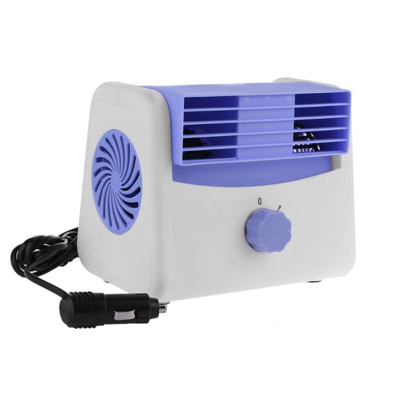 Stumm Blattlosen Klimaanlage Fan Universal Auto Elektrische Fan Verstellbare Fahrzeug Turbofan Auto Kühler Für Baby Geräuscharm Kleine Klimaanlage Geräte