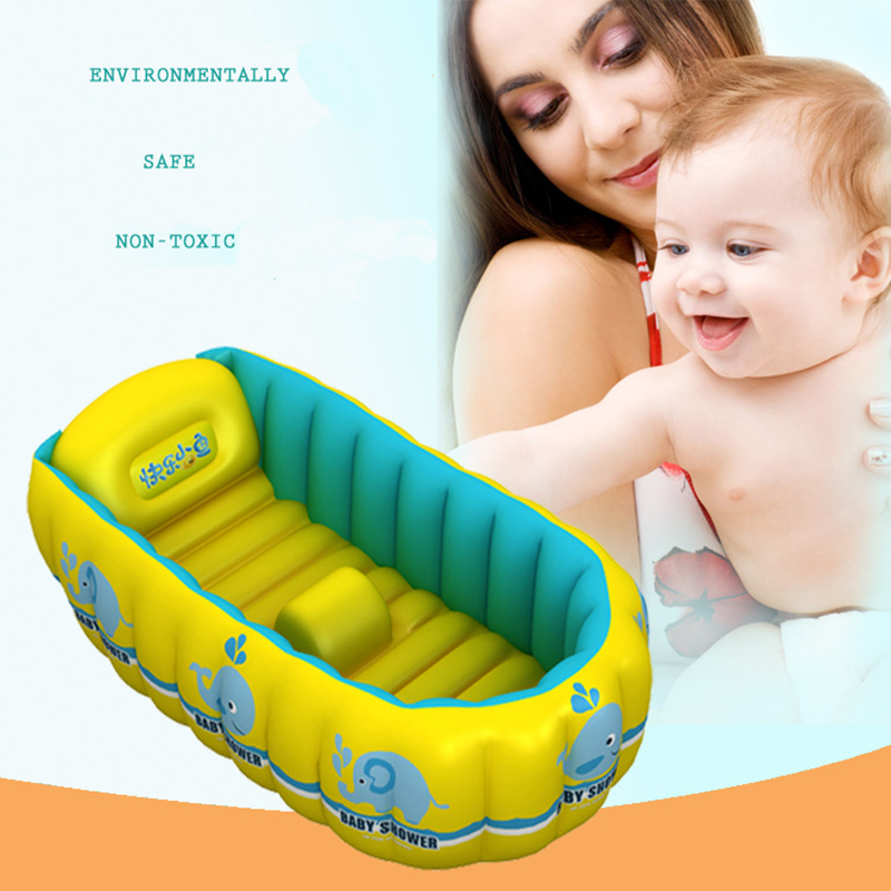 buy portable inflatable baby bath 0 3 years old kids bathtub thickening folding. Black Bedroom Furniture Sets. Home Design Ideas