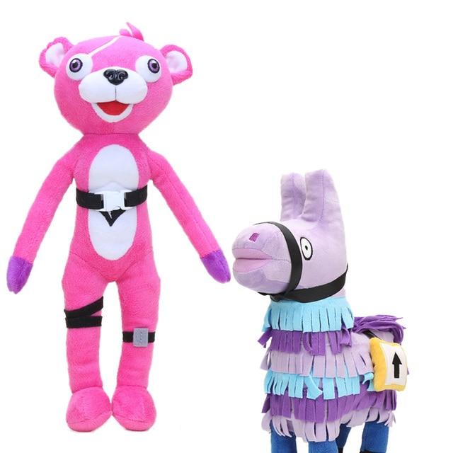 Fortnight Stash Llama Horse Plush Toy Pink Bear Stuffed Animal Dolls