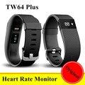 Original TW64 Plus Monitor De Ritmo Cardíaco Banda Inteligente Pulso Smartband deporte pulsera oled pulsera inteligente pk xiaomi mi banda de fitness 2