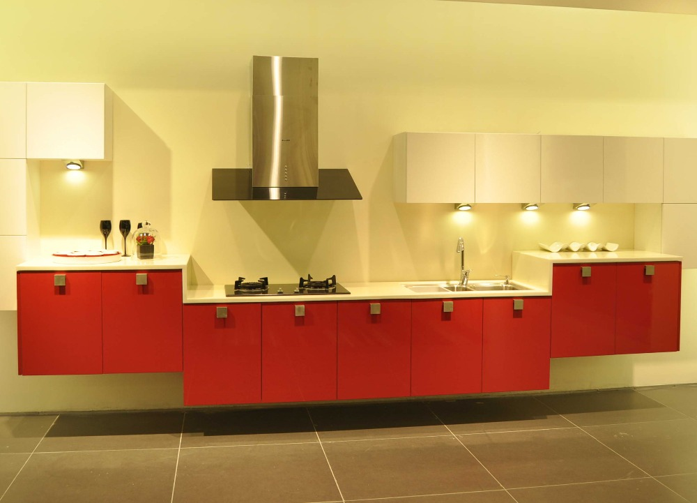 Gloss Red Kitchen Cabinet Mdf