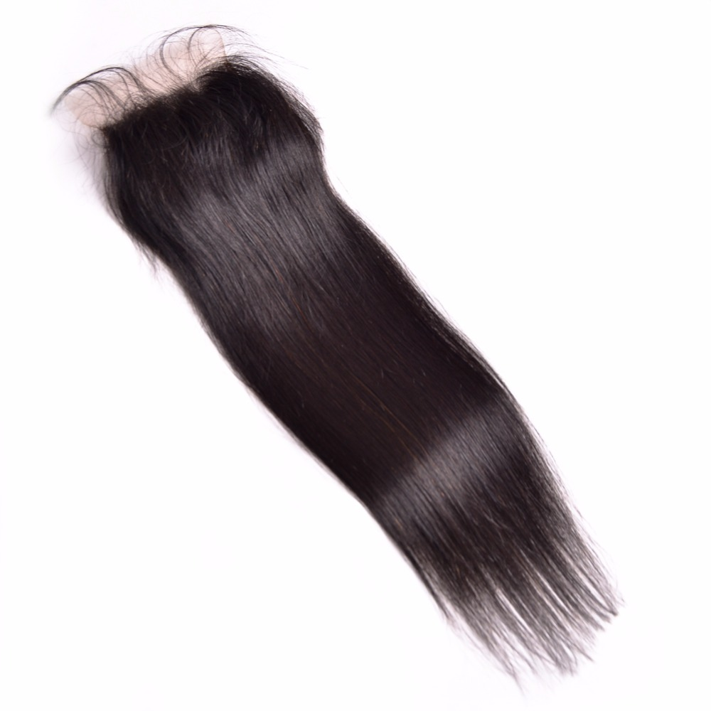 ALIPOP բրազիլական ուղիղ ժանյակային - Մարդու մազերը (սև) - Լուսանկար 4