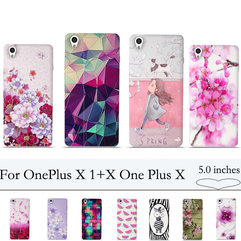 3D Relief Print Case for OnePlus X 1+X One Plus X Cover Soft TPU Back Case Cover for One Plus X OnePlus X 1+X Silion Cases Cover