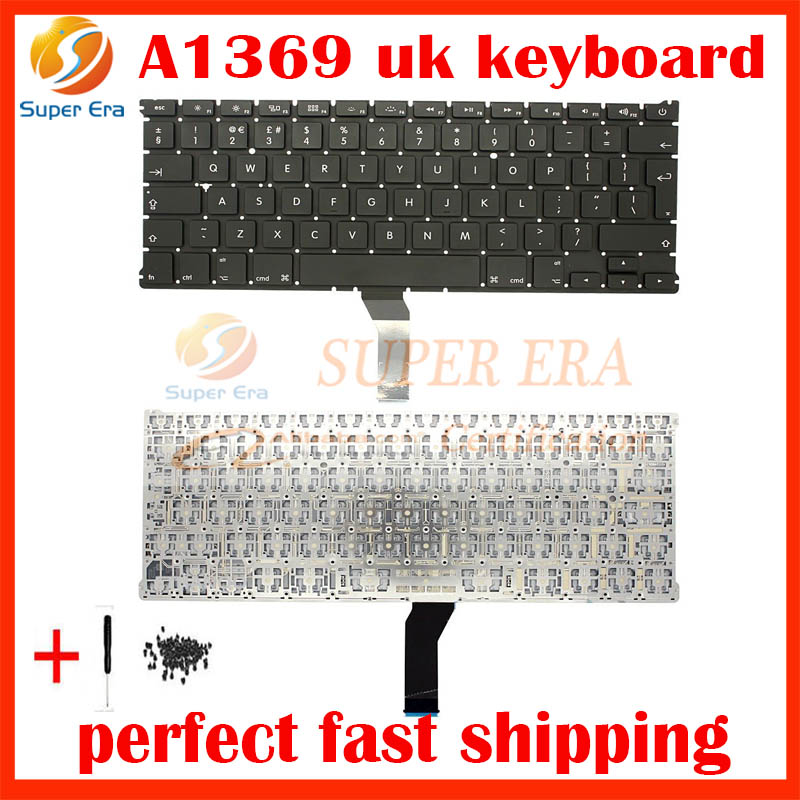 5pcs/lot NEW UK Keyboard For Macbook Air 13 A1466 A1369 UK Laptop keyboard MD231 MD232 M ...