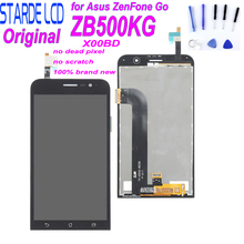 лучшая цена STARDE LCD for Asus Zenfone Go ZB500KG X00BD LCD Display Touch Screen Digitizer Assembly Replacemenet with Free  Tools