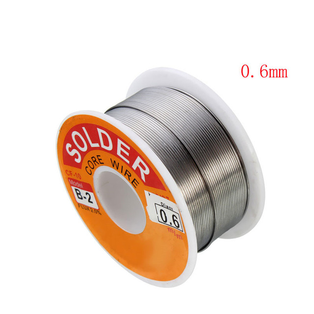63/37 Rosin Core Solder Wire Flux 2% Tin Lead Solder Iron Welding Wires Reel 0.5mm-2.0mm 100g Flux Reel Welding Line 2