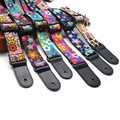 Cartoon Children Small Guitar Strap Ukulele Strap With leather Ends Hawaii  Acoustic Guitar Ukulele Belt Accessories