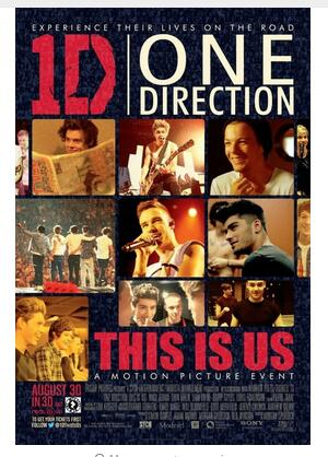 One Direction This Is Us (2013) Movie Niall Horan Art Wall Decor Silk Print Poster image
