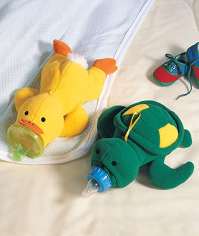 Lovely Cartoon Soft Turtle Duck Baby Feeding Bottle Protector Warmer Cover Bag Holder