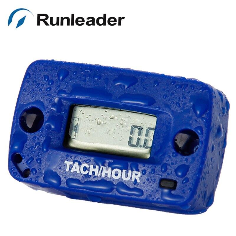 LCD INDUCTIVE Gasoline Engine Digital Tachometer Hour Meter for ChoppersJET SKI boat paramotor UTV marine