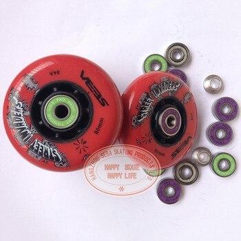 SEBA Street Invaders ruedas de patinaje 8 unids/set con 16 rodamientos 84A rodillo FSK Slalom Patines rueda con ILQ-9 ILQ-11