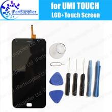 UMI Touch/Touch X ЖК-дисплей Дисплей + Сенсорный экран дигитайзер Ассамблеи 100% оригинал ЖК-дисплей Экран стекло Панель Замена для UMI touch