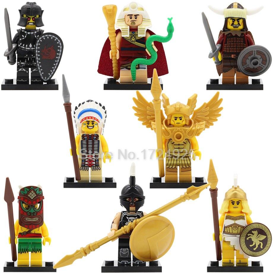 X0163 QUEST single sale Saint Seiya figure Aborigines Tutankhamun Hun Warrior Ares Chief Evil Knight Building Blocks Model Toys
