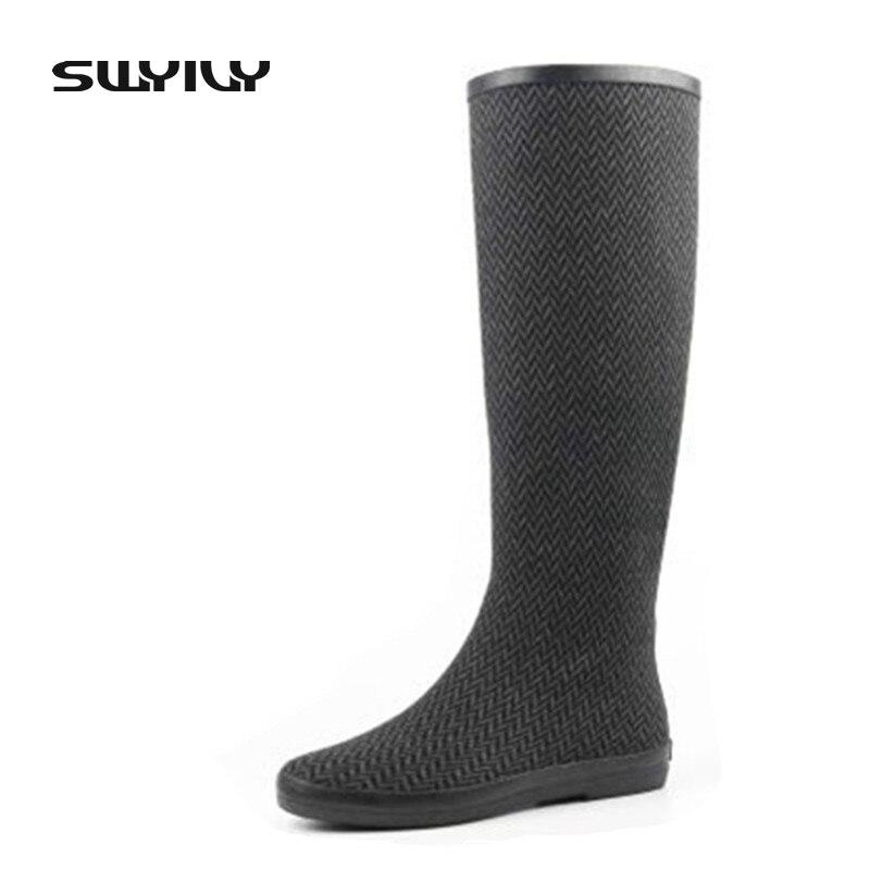 Foldable Light Easy To Take 2017 Women Rain Boots,Rubber Boots Big Plus Size 41 42 Waterproof Rain Shoes Woman