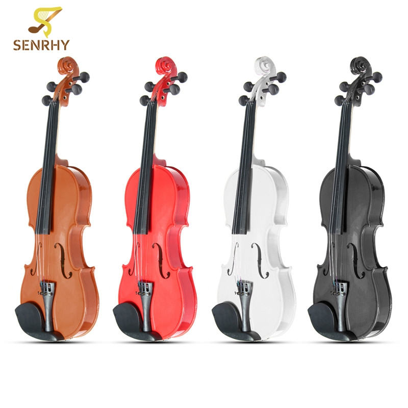 3/4 Violin Natural Acoustic Basswood Face Board Violin Aluminium Alloy Tailpiece Musical Instruments with Case Rosin Foam Box full size 4 4 solid basswood electric acoustic violin with violin case bow rosin parts accessories for musical instruments lover