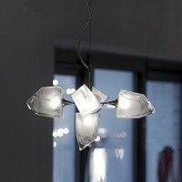Современная Скандинавская стеклянная люстра металлическая светодио дный Светодиодная потолочная люстра для гостиной столовая кухня свет