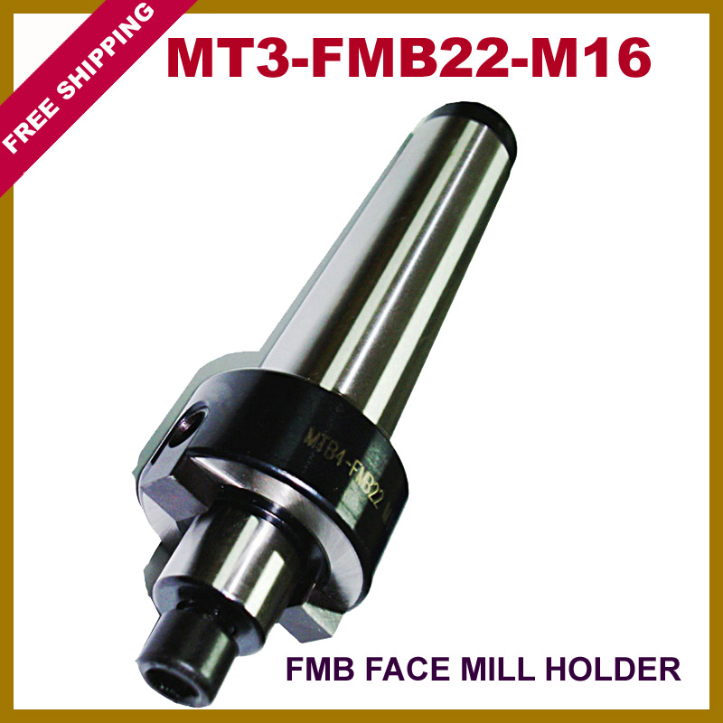 Free Shipping MT3-FMB22-M16 Face Mill Arbor Shell end mill arbor Morse taper tool holder siutable for NC machine free shiping1pcs aju c10 10 100 10pcs ccmt060204 dia 10mm insertable bore drilling end mill cutting tools arbor for ccmt060204