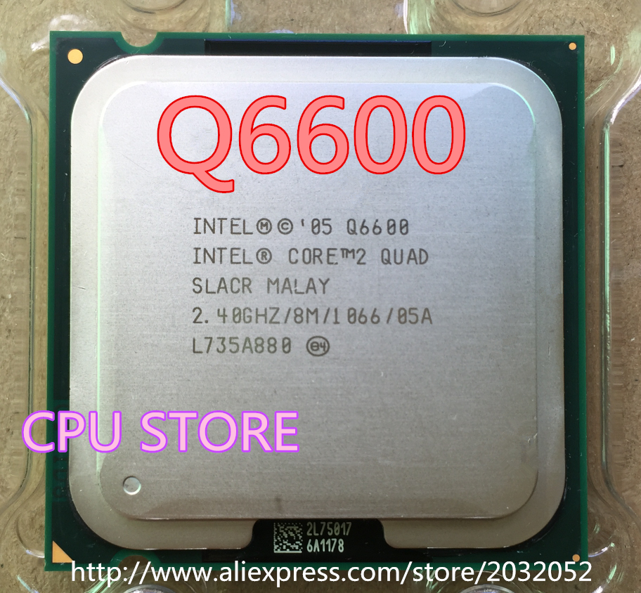 lntel CORE 2 QUAD Q6600 Processor 2.4GHz/8MB /Quad-Core/FSB 1066 Desktop LGA 775 CPU  can  working(China)