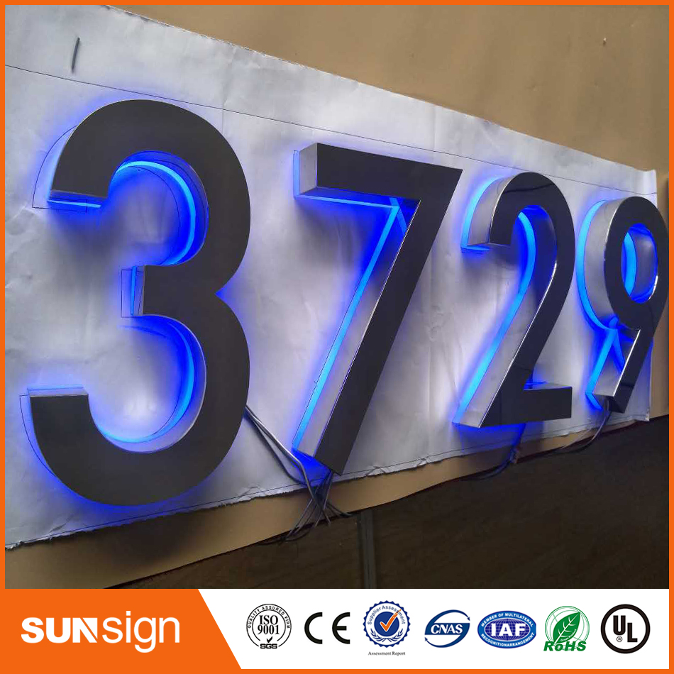 Custom Advertising Storefront Decorative Led Acrylic Letters Led Backlit Signs