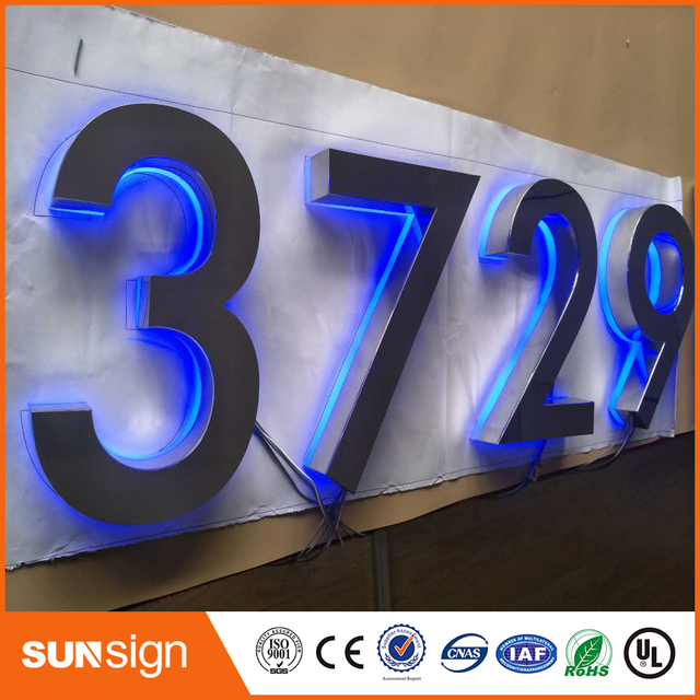 Custom Advertising Storefront Decorative Led Acrylic Letters Led New Exterior Digital Signage Model Decoration